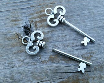 Beadable Key Pendant - Large Hole European Style Bead Necklace Pendant