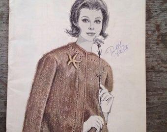 Vintage 1966 Bernat Yarn Opalette Knitting Pattern Book 134