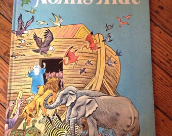 Vintage 1969 Noah's Ark A Big Golden Book
