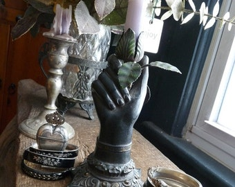 Vintage Figural Hand Candlestick Holder, Dark Gothic Beauty, offered by RusticGypsyCreations