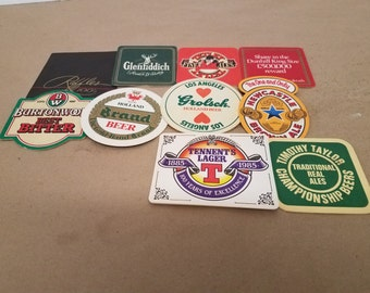 Set of 10 Assorted Bar/Drink Coasters