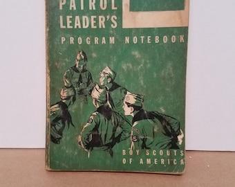 Vintage Patrol Leaders Program Notebook