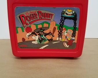 Vintage Roger Rabbit Lunchbox and Thermos