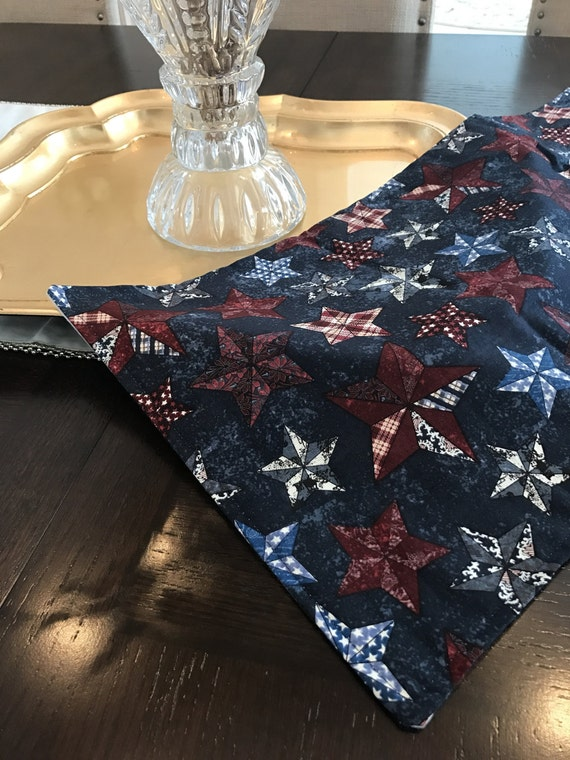 Country table runner texas star decor home by linensbymichele for Country star decorations home