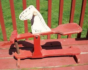 Vintage Darling Wood Topsy Spring Horse Riding Rocking Toy