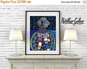40% OFF- Labradoodle ART  Art Print Poster by Heather Galler (HG706)