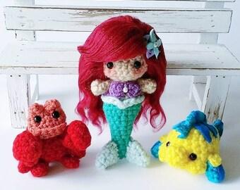 Little Mermaid Amigurumi Set