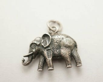 Vintage Sterling Lucky Elephant Charm