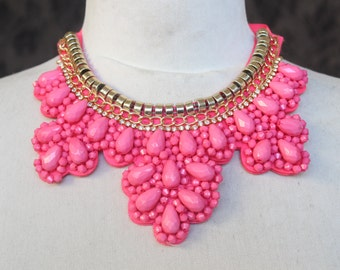 Cute  beaded and   embroidered  applique with rhinestones