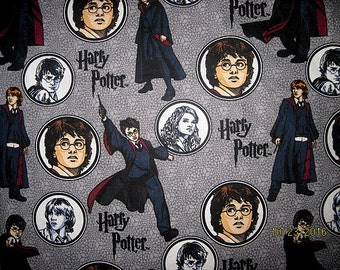 FAT QUARTER, HARRY Potter, Cotton Fabric, Fq, Ron, Hermione, Harry, harry potter fabric, 18X22,
