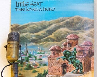 """ON SALE Little Feat Vinyl Record Vintage 1970s Classic Rock Funk Soul Lowell George """"Time Loves a Hero"""" (Original 1977 WB w/""""Rocket in My Po"""