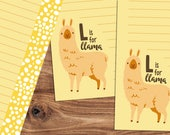 L is for Llama - A5 Stationery - 12, 24 or 48 sheets