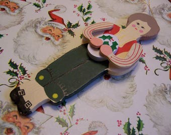 wooden doll ornament