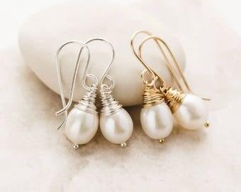 Pearl Earrings - Pearl Bridal Earrings - June Birthstone