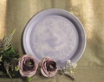 Summer Sale Painted Paris Chic Vanity Tray in Lovely French Lilac
