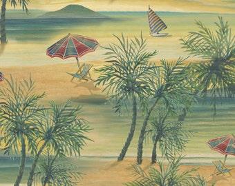 Quilting Treasures Paradise Delights Island Scenic Multi fabric - 1 yard