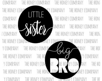 Little Sister Big Brother SVG PNG DXF Bro Istant Download Silhouette Cricut Cut Files Cutting Machine