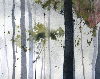 Woodland II - Original Watercolor Painting
