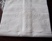 Pair Pillowcases Vintage Whitework Embroidery Crochet Inserts New Unused