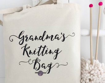 Grandma's Knitting Bag | Granny's Knitting | Knitting Gift | Personalised Knitting Bag