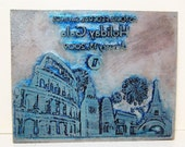 Holiday Gala Travel Industrail Print Block Stamp