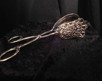 Silver Plated Serving Tongs Solingen Germany Wedding Server