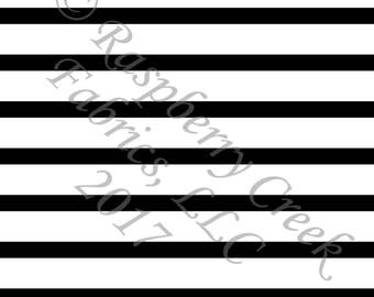 Black and White Stripe 4 Way Stretch Jersey Knit Fabric, Club Fabrics, PRE-ORDER
