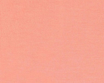 Dark Peach 4 Way Stretch 8oz Rayon Spandex Jersey Knit Fabric, 1 Yard
