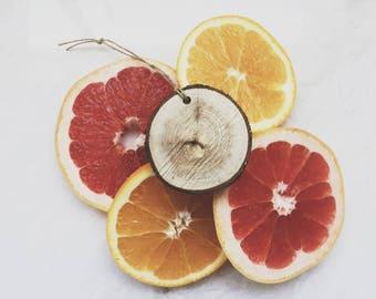 Citrus Scent Diffuser / Reclaimed Wood / Grapefruit Lemon Lime Orange / Air Freshener / Car Freshener / Essential Oil Gift / Gift under 10