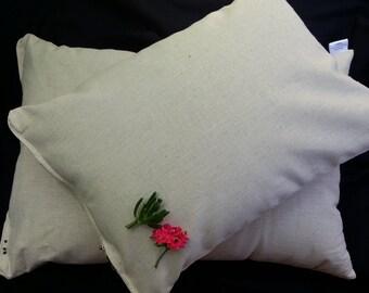 Extra SMALL Buckwheat Hull Pillow & organic Hemp All Aust HAND MADE 43cmx32cm