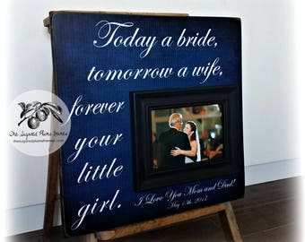 Father of the Bride Gift, Mother of the Bride  Gift, Daughter to Father Gift, Today a Bride, 16x16 The Sugared Plums Frames