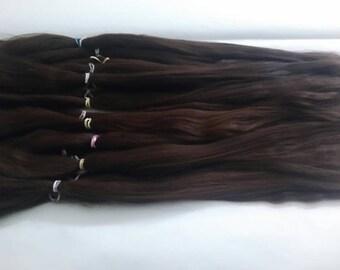 Blythe / Doll Hair / BJD / MSD / Combed Doll Hair / Re root / Combed Suri Alpaca / Wig /Reborn /  Supplies (2123)