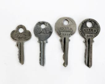 Four Old Yale and Towne Keys, Steel