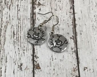 Owl aluminum earrings