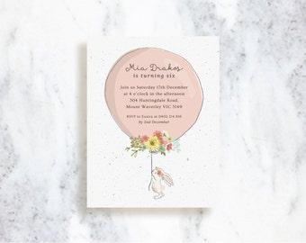 Custom Invitations   Bunny   Birthday   Baby Shower   Bridal Shower