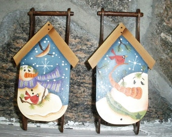 Winter Sled Ornaments