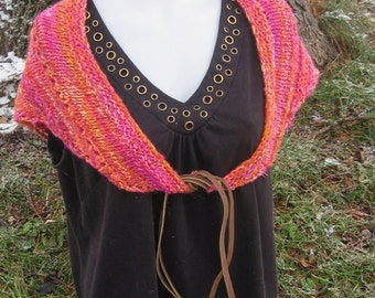 Wool Scarf/Shawl in Piñata Colors