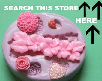 Flower Mum Heart Leaf Rose Fondant Silicone Mold Soap Embed Polymer Clay Resin Clay Flexible Molds