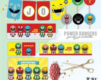 Power Rangers Party, Power Rangers Party, Power Rangers, Power Rangers Birthday, Power Rangers Party Printable, Power Rangers Printable