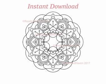 Mandala SVG 0001, Mandala Download, Commercial Use svg, Commercial svg