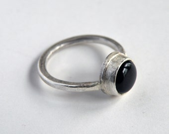 Black Onyx Ring in Silver