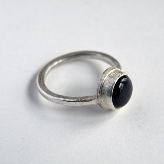 Black Onyx Ring in Sterling Silver