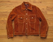 vintage suede trucker jacket