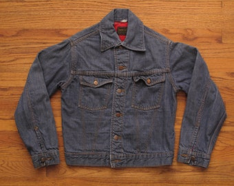 vintage Roebucks selvedge denim jacket