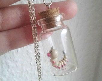 Pokémon Necklace - WEEDLE  - Toy in a Bottle - Pokémon Trainer Jewelry
