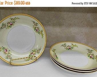 Antique Soup Bowls - Meito Japan - Soup bowl - Hand painted Lucille ?