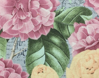 Accent Panels for Pillows and Placemats Spring floral