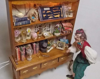 Dolls House Miniature Victorian style Museum / Collector's Dresser Collection