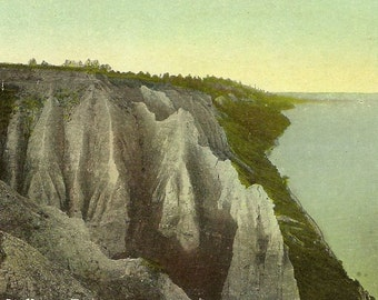 Vintage Toronto Postcard Scarboro Bluffs – Wonder of Nature in Toronto's East End 1909