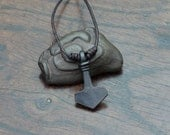 Small Iron Thor's hammer pendant, Viking Mjolnir pendant